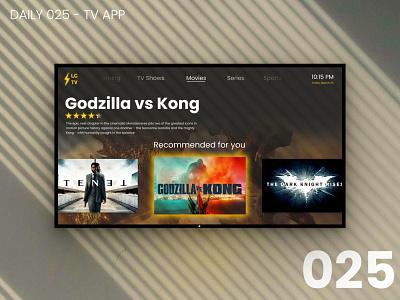 Daily UI #025 - TV app daily 025 tv movie app design daily ui dailyui ui 100daychallenge