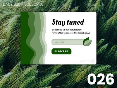 Daily UI #026 - Subscribe newsletter nature minimalist 026 daily ui dailyui ui 100dayschallenge