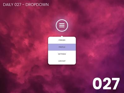 Daily UI #027 - Dropdown dropdown design daily ui dailyui 100daychallenge ui