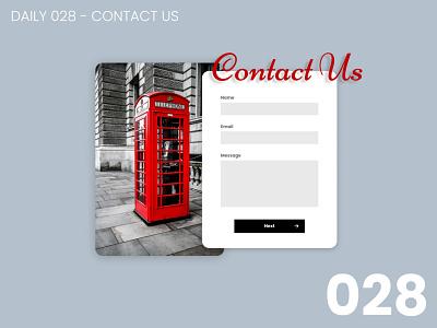 Daily UI #028 - Contact us 028 design daily ui dailyui 100daychallenge ui