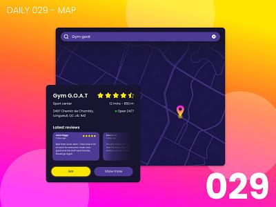 Daily UI #029 - Map 029 app design daily ui dailyui 100daychallenge ui map