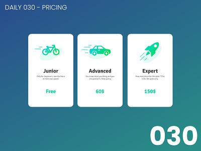 Daily UI #030 - Pricing 030 pricing design daily ui dailyui 100daychallenge ui