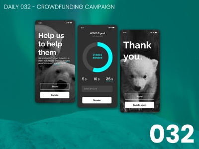 Daily UI #032 - Crowdfunding campaign 032 crowdfunding design daily ui dailyui 100daychallenge ui