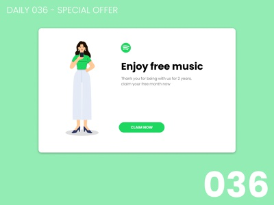 Daily UI #036 - Special offer 036 design daily ui dailyui 100daychallenge ui