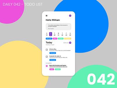 Daily UI #042 - ToDo list daily ui dailyui 100daychallenge ui