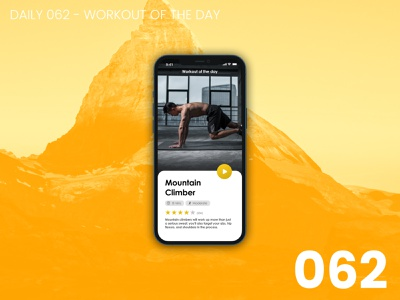 Daily UI #062 - Workout of the day daily ui dailyui 100daychallenge ui