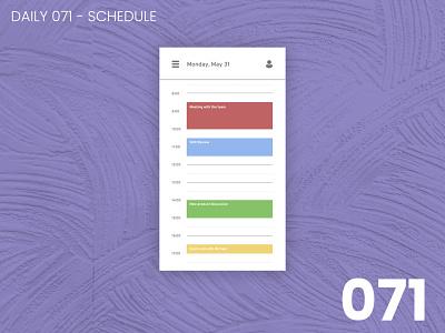 Daily UI #071 - Schedule daily ui dailyui 100daychallenge ui