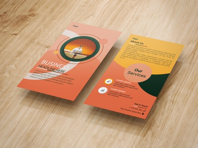 DL Flyer business businesscard broucher banners design dl flyer advertisement creative design corporate flyer