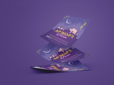 Ramadan Karim  Invitation flyer event dl flyer marketing banners advertisement salah ramadhan iftar brochure design islamic flyer islamic poster arab al adha invitation flyer invites flyer