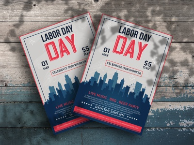 LABOR DAY FLYER party memorial labor july invite invitation independence day independence holiday party flyer flag event celebration card bbq barbecue american america 4th of july 4th