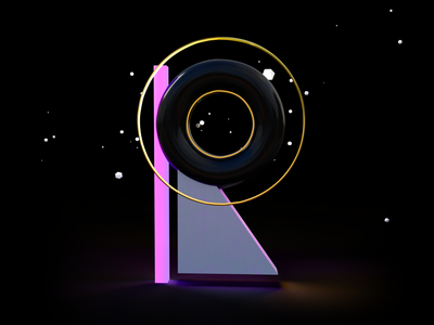 36DaysOfTypogrphy - Day 18 - R letters typography art typography typo 3d letter lettering letter glow gold black abstract 3d 36daysoftype 36daysoftype07 creative graphic studio minimal design