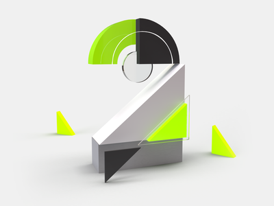 36DaysOfType - day 29 - 2 perspective visual render custom art 3d letter typo custom letter letters rendering typography letter abstract graphic 3d creative minimal design lettering 36daysoftype07 36daysoftype