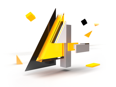 36DaysOfType - day 31 - 4 custom typo 3d art rendering letter typo abstract design creative 3d graphic illustration lettering studio 36daysoftype07 36daysoftype