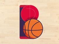 B like Basketball. Letter practice.