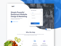 Restaurant oriented marketing agency landing page