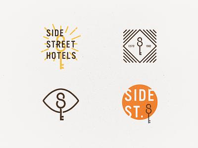 Side Street Scraps logo hotel key
