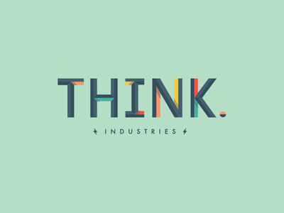 Think Industries typography type bevel 3d