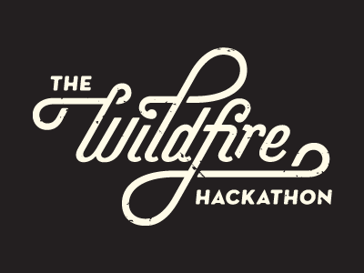 Hackathon Type typography hackathon wildfire