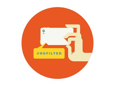 Instagramin' camera camera phone hashtag illustration