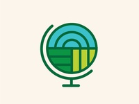 world globe logo study