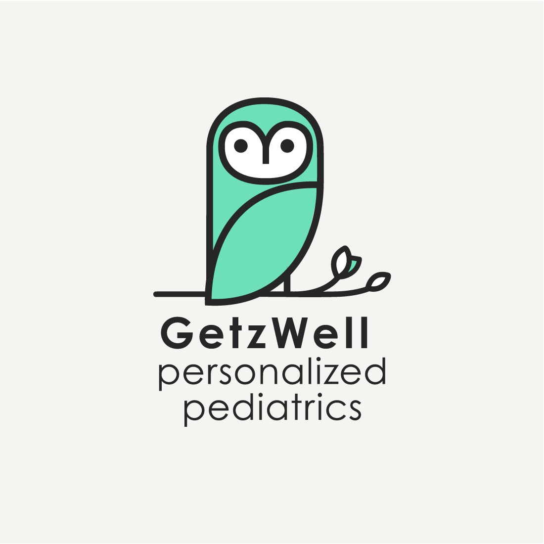 GetzWell Personalized Pediatrics logo logo san francisco pediatrician branch owl doctor