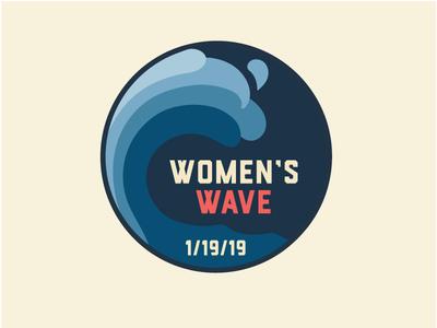 Women's Wave pin
