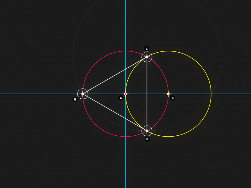  Circle and Line : 03 - Triangle motion design