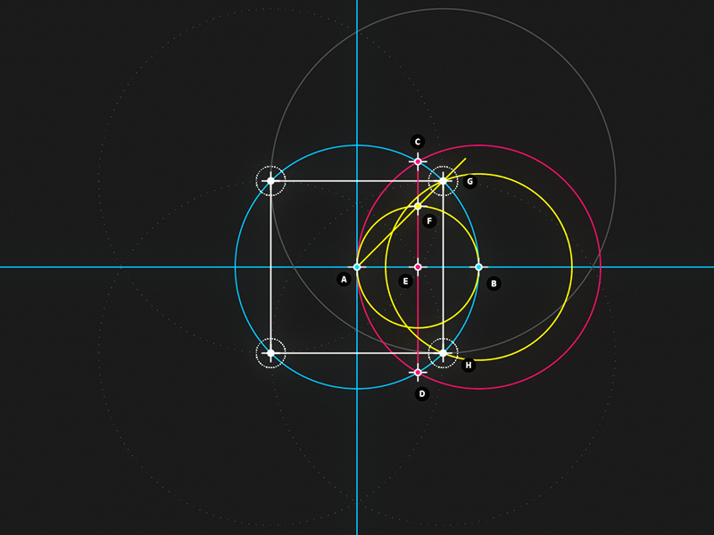 Circle and Line : 04 - Square motion design