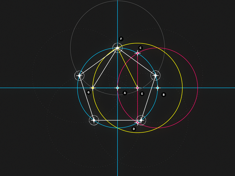​ Circle and Line : 05 -​ Pentagon motion design