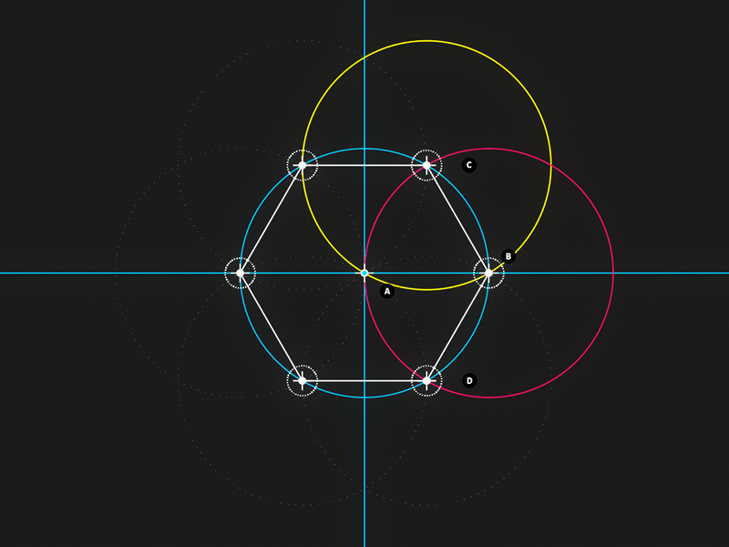  Circle and Line : 06 - Hexagon motion design