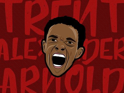 Trent Alexander-Arnold Illustration football illustation liverpoolfc ynwa liverpool lfc taa trent alexander-arnold trent