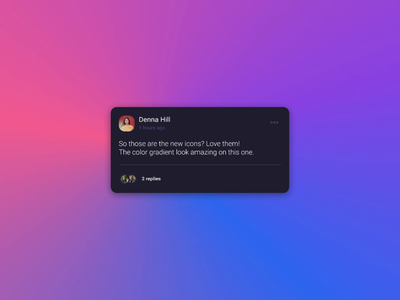 Reply to a comment thread comment comments principle sidebar response reply animated animation panel flow user inteface user experience prototype interface gif mp4 product design figma