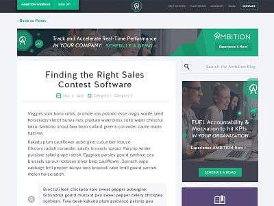 Blog CTAs branding navigation ad cta action ambition blog responsive