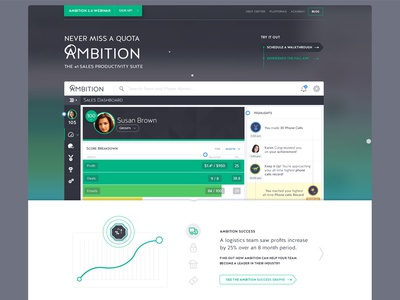 Ambition Landing ambition landing landing page product in-house