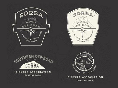 SORBA Chattanooga Options vintage logo nature bicycle forest vintage logo off-road sign