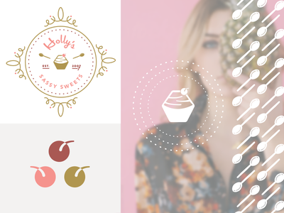Sassy Sweets Work-In-Progress burnt sugar girl power hexagon hex girly cake cupcake logo sweets