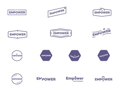 Empower Logo Directions power-grid identity branding tag power empower logo badge