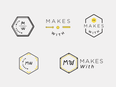 MakesWith Logo Fun black-and-yellow logo tools bolt hexagon maker
