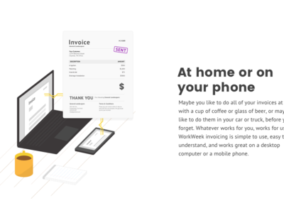 Iso Payments Illustration mug coffee invoice isometric sketch-illustration illustration icon