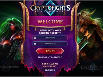 CryptoFights - Welcome login game cryptocurrency crypto