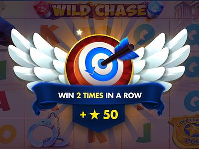 Slot Achievement Icons prize reward award icon design illustration app gambling ux ui icons game wings achievement casino slot