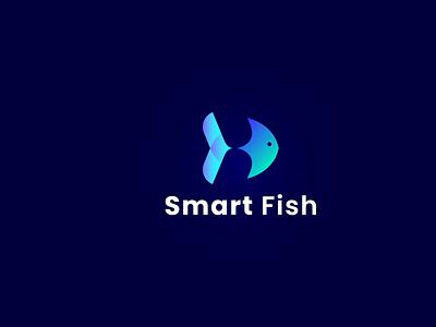 minimalist logo fish logo fish vector logo design gradient logo art logo flat minimal typography logo maker graphicdesign branding