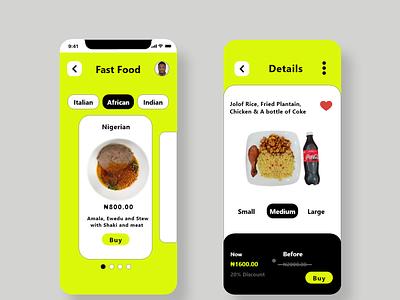 Fast Food App ux vector logo app ui illustration adobexd graphic design design branding