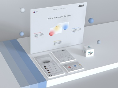 C&C Payments App uxdesign uidesign payments transaction history homepage design glassmorphism credit card payment app adobe xd skill mix 3d art 3d landing page