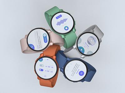 Trendy Smartwatch Mockup designer voice assistant alarm mail music player presentation 3d 3d art 3d mockup mockups mockup design skill mix adobe xd watch smartwatch