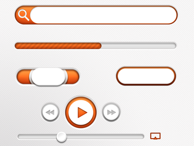 Widgets buttons music controls search progress