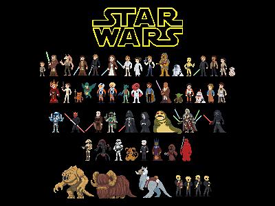 Star Wars Pixel Art pixel art star wars characters pixel