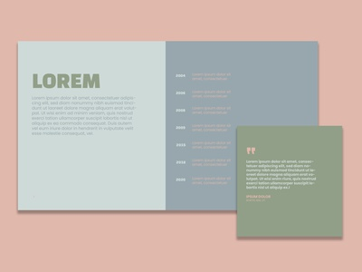 Muted tones / Powerpoint + social media templates