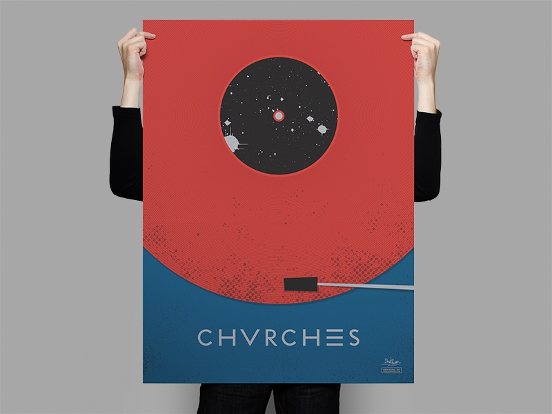 Chvrches Record Poster illustrator chvrches poster illustration flat texture band vinyl