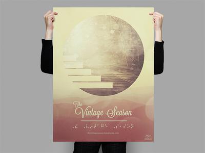 The Vintage Season Braille Poster